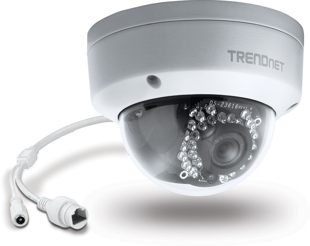 TRENDnet TV-IP311PI dome camera with POE cable